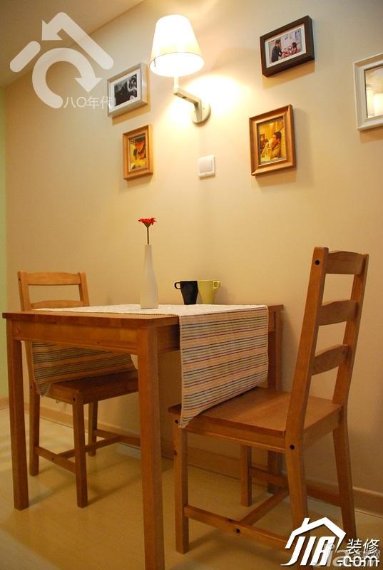 混搭风格小户型可爱黄色经济型40平米餐厅餐桌效果图