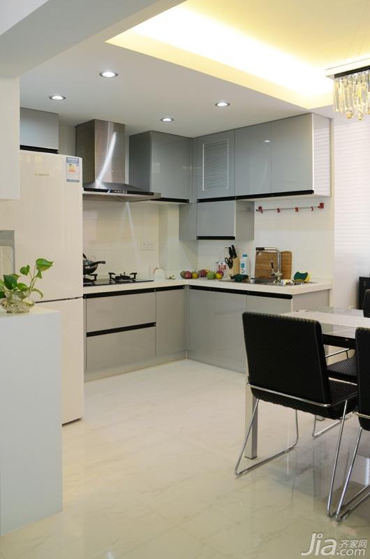 简约风格公寓米色富裕型餐厅橱柜设计图纸