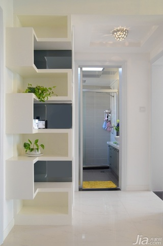 简约风格公寓简洁米色富裕型客厅过道效果图