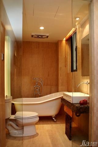 简约风格复式豪华型卫生间洗手台图片