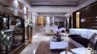 欧式风格公寓15-20万客厅电视背景墙沙发效果图