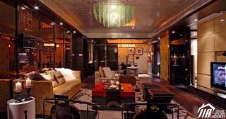 欧式风格三居室豪华型客厅电视背景墙沙发效果图