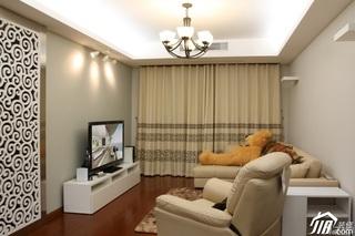 宜家风格公寓时尚富裕型客厅客厅隔断沙发效果图