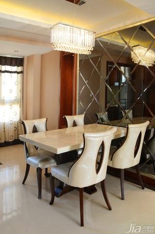 欧式风格公寓时尚富裕型餐厅餐桌婚房家装图片