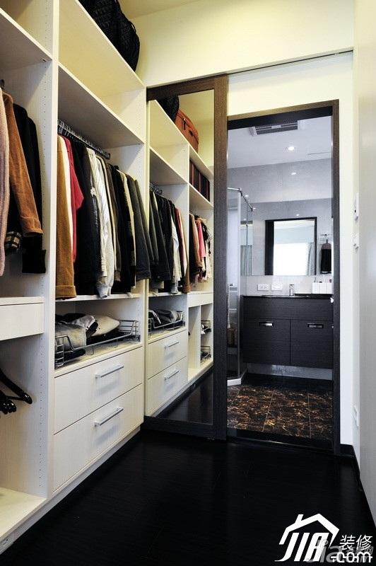 中式风格公寓富裕型90平米衣帽间衣柜设计图纸