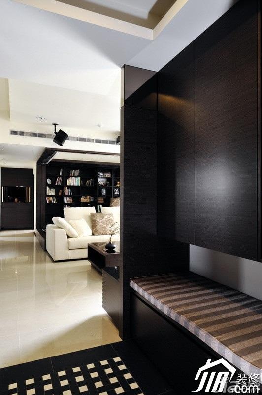 中式风格公寓富裕型90平米玄关设计图