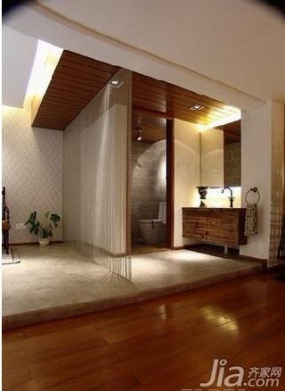 地中海风格三居室古典富裕型卫生间隔断洗手台图片