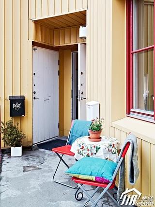 北欧风格公寓经济型80平米露台效果图