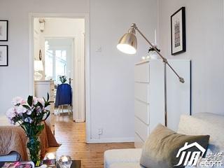 北欧风格一居室简洁白色经济型70平米客厅灯具效果图