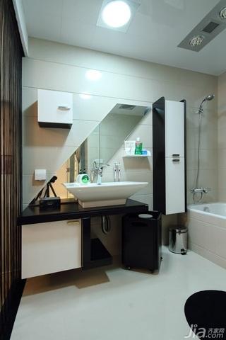 公寓大气白色豪华型140平米以上主卫效果图