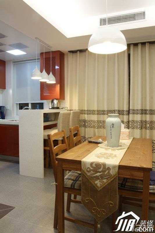 简约风格公寓温馨原木色富裕型餐厅吧台装修效果图高清图片