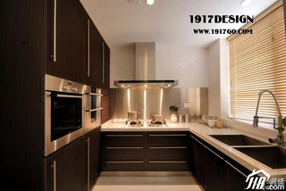 简约风格别墅黄色20万以上厨房橱柜定制