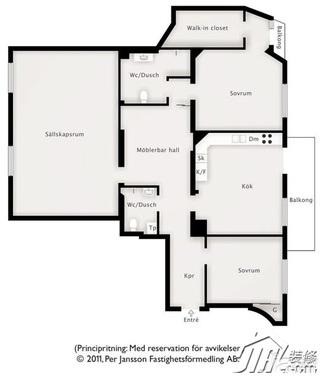 北欧风格公寓经济型装修效果图