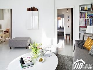 北欧风格公寓舒适白色经济型客厅茶几效果图