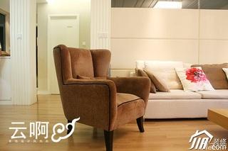 北欧风格三居室富裕型客厅沙发效果图