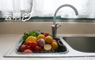 北欧风格三居室富裕型厨房效果图