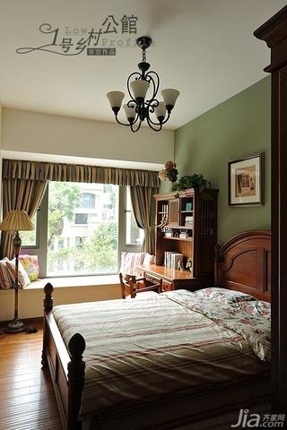 美式乡村风格别墅奢华原木色豪华型140平米以上卧室床效果图
