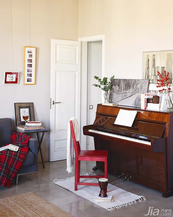 混搭风格复式舒适经济型客厅改造