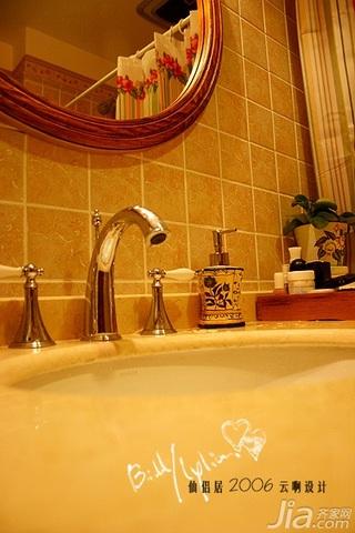 田园风格小户型经济型80平米卫生间洗手台效果图
