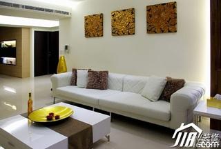 简约风格公寓简洁经济型80平米客厅沙发背景墙沙发效果图