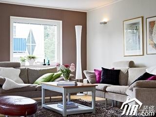 北欧风格别墅富裕型客厅沙发背景墙沙发效果图