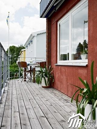 北欧风格别墅富裕型露台装潢