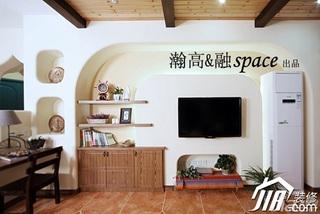 宜家风格公寓温馨富裕型工作区收纳柜图片