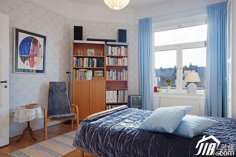 北欧风格公寓经济型卧室窗帘图片-您正在访问第3页 装修效果图案例