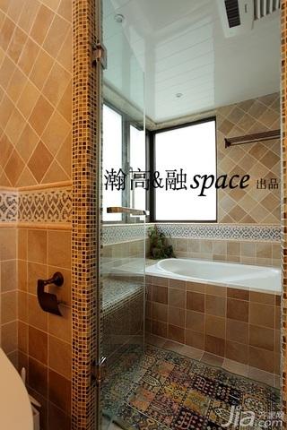 宜家风格二居室温馨原木色富裕型卫生间装潢