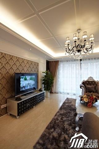 新古典风格公寓奢华富裕型120平米客厅灯具效果图