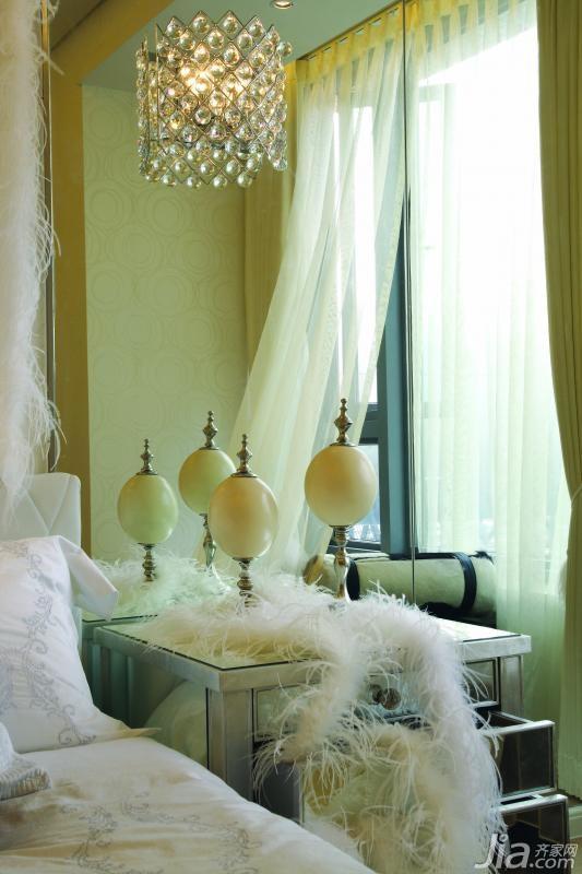 欧式风格公寓富裕型卧室灯具图片
