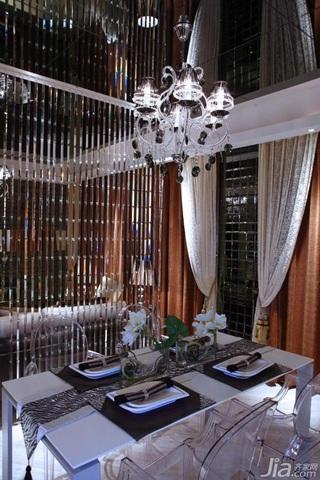 欧式风格公寓富裕型餐厅隔断餐桌效果图
