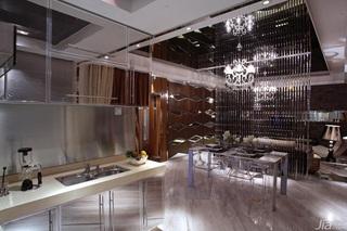 欧式风格公寓富裕型餐厅隔断灯具效果图