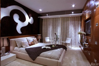 欧式风格公寓富裕型卧室卧室背景墙窗帘效果图