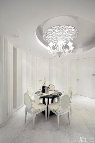 欧式风格公寓豪华型餐厅吊顶窗帘效果图