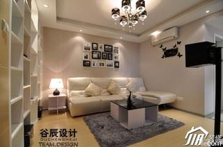 简约风格公寓大气米色富裕型客厅沙发婚房平面图
