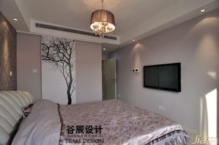 宜家风格公寓温馨暖色调富裕型卧室床效果图