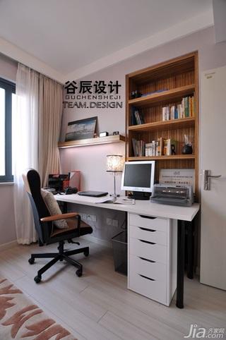 宜家风格公寓温馨暖色调富裕型书房书桌效果图