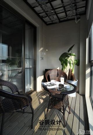 宜家风格公寓温馨暖色调富裕型阳台吊顶效果图