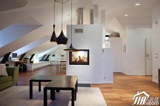 简约风格公寓富裕型客厅灯具效果图