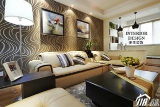 简约风格公寓经济型100平米客厅壁纸效果图