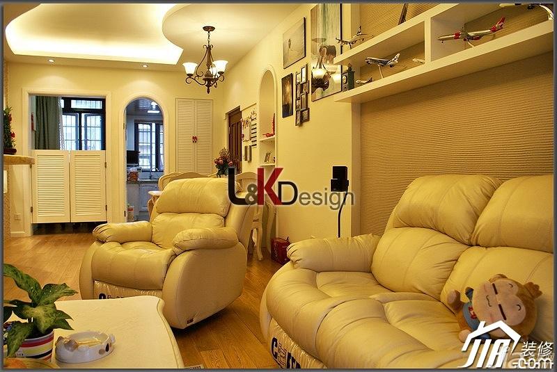 地中海风格小户型温馨暖色调富裕型客厅沙发背景墙沙发图片图片