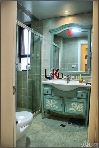 地中海风格小户型温馨暖色调富裕型卫生间洗手台效果图