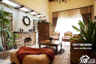 东南亚风格别墅豪华型客厅沙发效果图