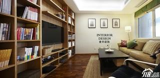 宜家风格公寓经济型70平米客厅沙发效果图