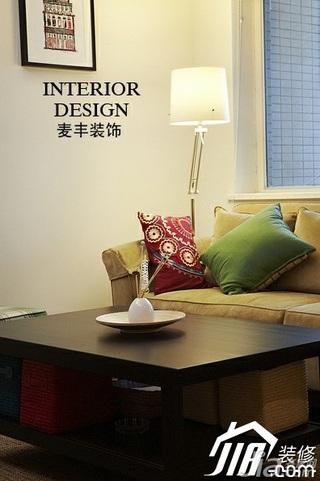 宜家风格公寓经济型70平米客厅茶几效果图