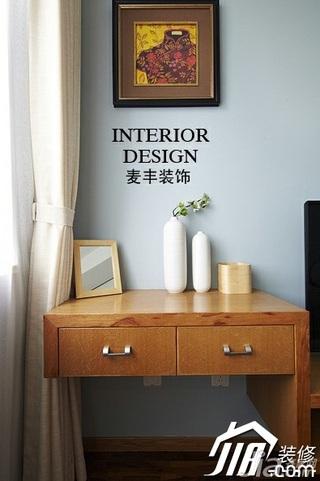 宜家风格公寓经济型70平米卧室床头柜效果图