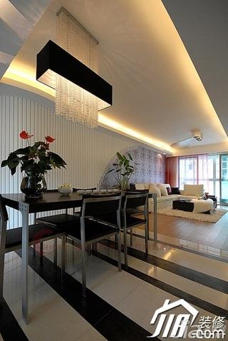设计年代简欧风格公寓时尚暖色调富裕型餐厅餐厅背景墙灯具婚房家装图片