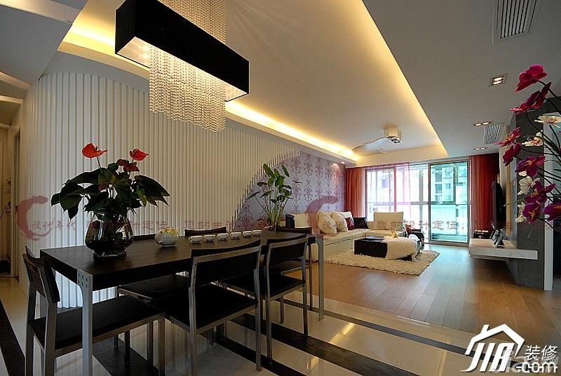 设计年代简欧风格公寓时尚暖色调富裕型餐厅餐厅背景墙灯具婚房平面图