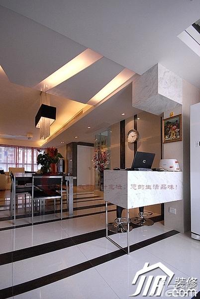 设计年代简欧风格公寓时尚暖色调富裕型隔断婚房家装图